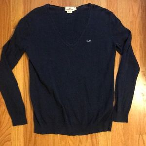 Navy Women's Vineyard Vines Sweater Small